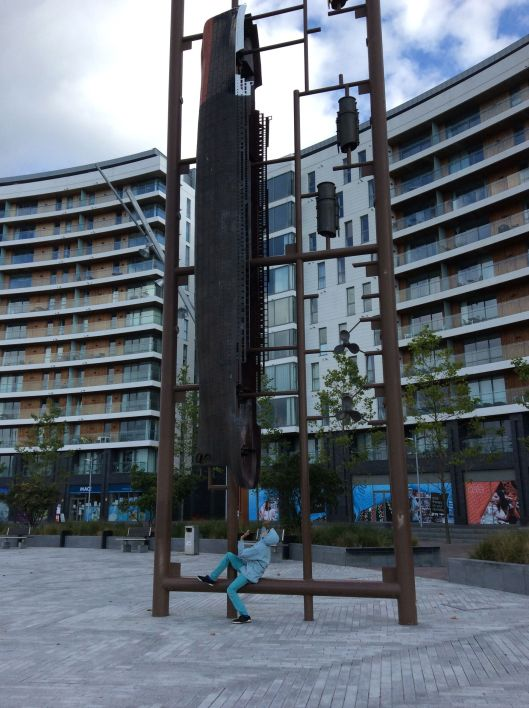 Onlyboy with Titanic sculpture, Belfast