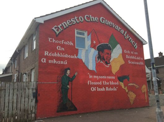 One of the famous Bogside murals, Derry.