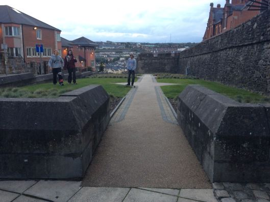 Youth practice parcour at Derry city walls, Northern Ireland