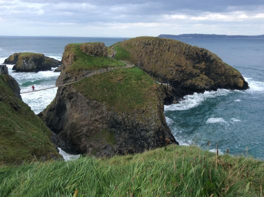 Rope bridge leads to islands with stunning views and dangerous cliffs