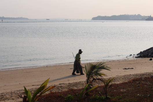 Pasir Ris Beach cleaner, Singapore