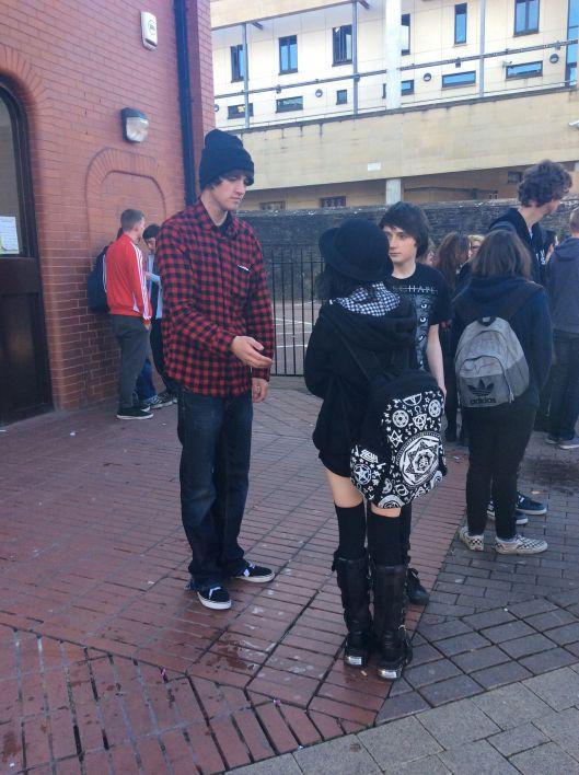 Teens hang out