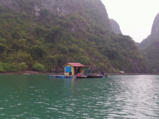 Home in fishing village, Halong Bay (Vietnam)