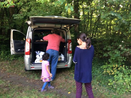 Our last picnic in our car...