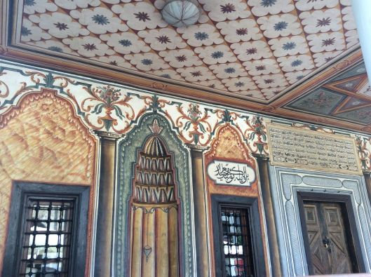 Tetovo mosque, painted ceiling