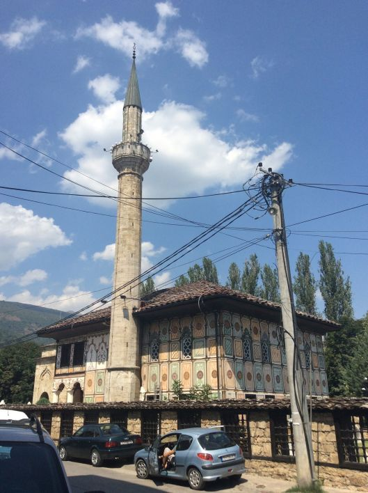 Mosque in Tetovo, Macedonia.  Tetovo is an Albanian town.