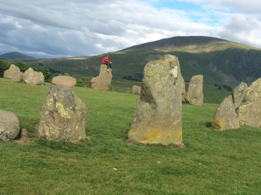 Onlyboy communes with ancient Druids, Castlerigg (England)