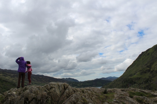 Girls at Mount Snowden, Wales