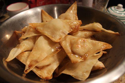 Shrimp dumplings (glazed).  Methinks we've taken these as far as they're gonna go.