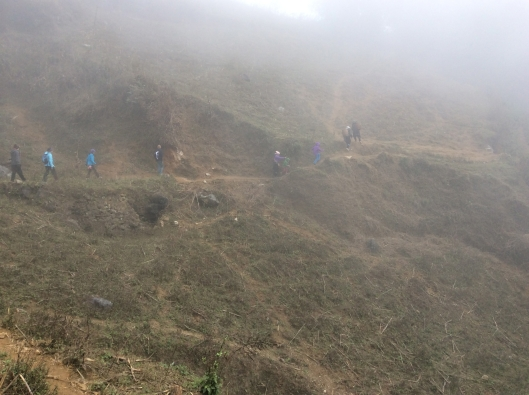 We trek in the misty mountains of Sapa (Northern Vietnam)