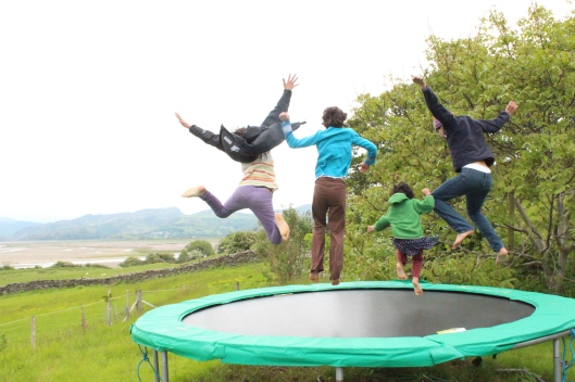One of many, many, many, many trampolines with a view (Wales)