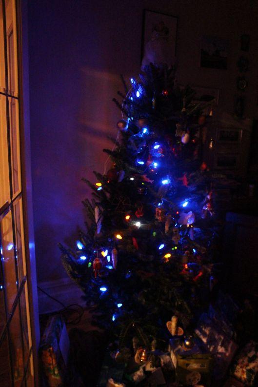 christmas tree dark