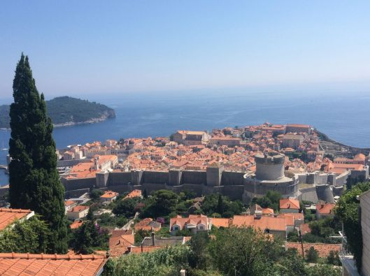 View of Dubrovnik,Croatia from above