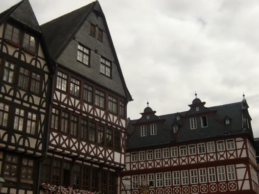 Buildings in old square, Frankfurt (Germany)