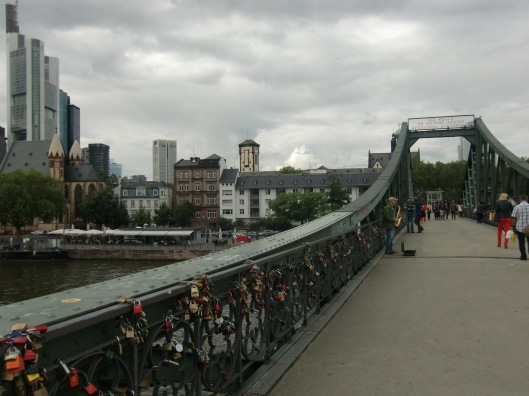 I see my first lock bridge, Frankfurt 2012