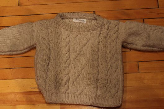 Little did Nana know when she knit this sweater, how gosh darn useful it was going to be!