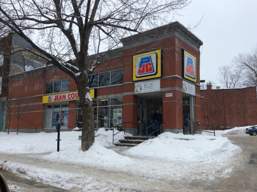 "Quebec's favourite pharmacy.  Home of the annoying jingle: ""You, yes you, should shop at Jean Coutu!"""