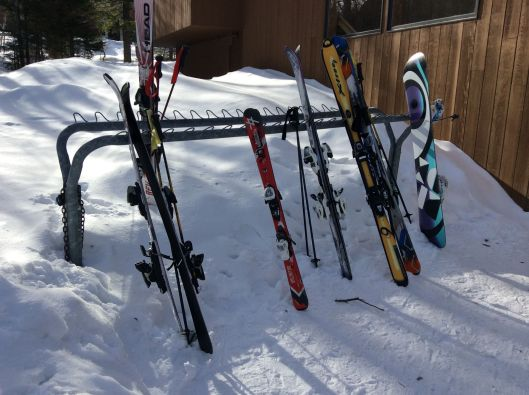 Our condo comes with a ski locker but everyone just leaves their skis outside for the duration.