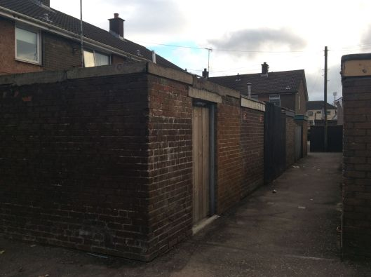 Coronation Street film set?  Nope, these are houses in the Bogside, Derry.