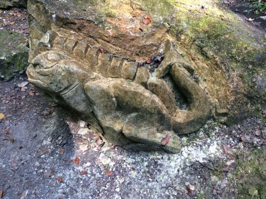 Strange, carved rock, near Balagny-sur-Therein