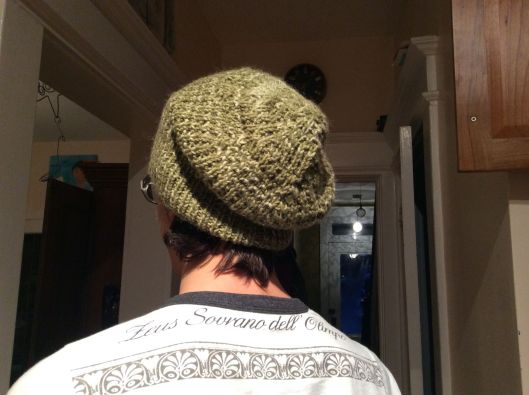 Onlyboy models the slouchy eco-hat