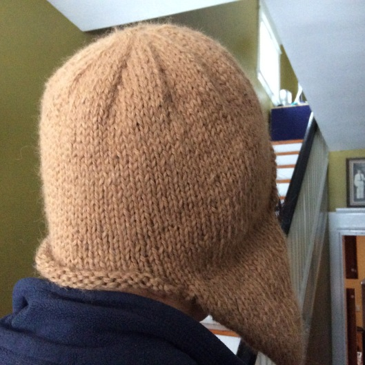 Warm earflap hat