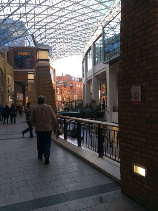 An interesting outdoor but indoor mall.  Belfast.