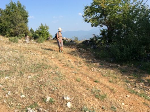 Haven't done the hike yet, ergo no pictures of the hike.  Here I am hiking with Lastborn in Macedonia/FYROM last summer.