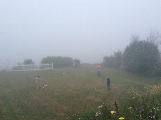 A fun game of fogball