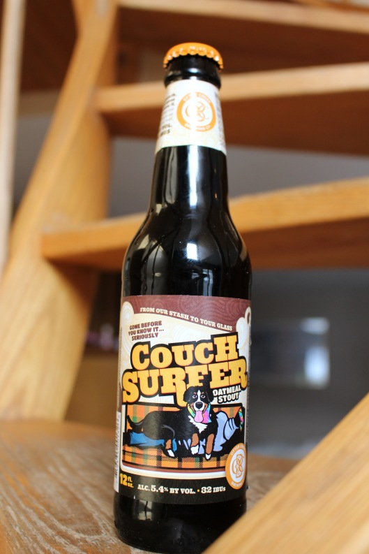 """I almost fell over when our friends gave us """"Couch Surfer"""" beer, here at Sugarloaf."""