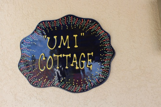 umi cottage sign