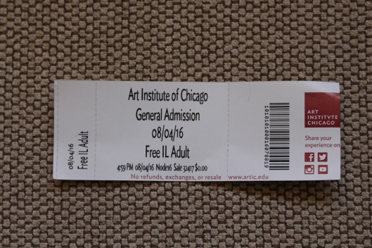 art institute ticket